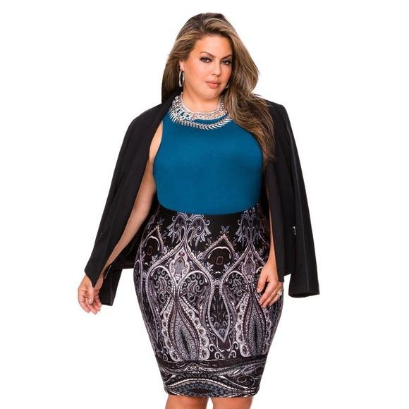 5939edb29b Ashley Stewart Skirts | Scuba Pencil Skirt Plus Size 22 | Poshmark